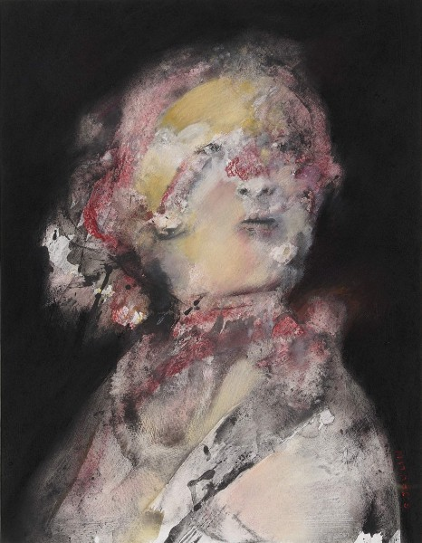 Sans titre 2, mixed media on paper, Gérard Jaulin, Artcompulsion, expressionism, contemporary art