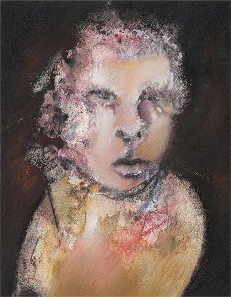 Sans titre 4, mixed media on paper, Gérard Jaulin, Artcompulsion, expressionism, contemporary art