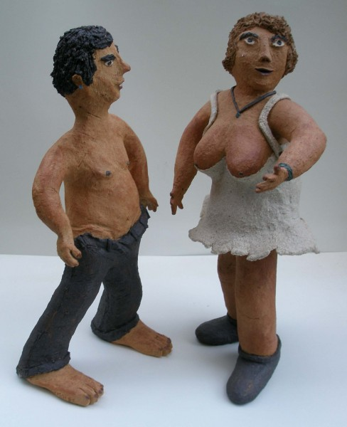 2 heures du mat', j'ai des frissons, sculpture, Michel Smolec, Artcompulsion, outsiderart, folk art