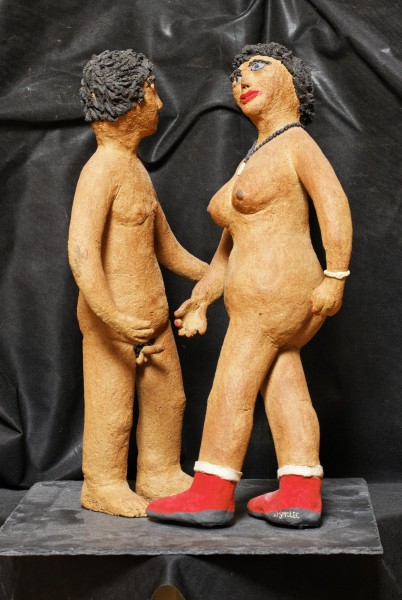 Viens plus près de moi, sculpture, Michel Smolec, Artcompulsion, outsiderart, folk art