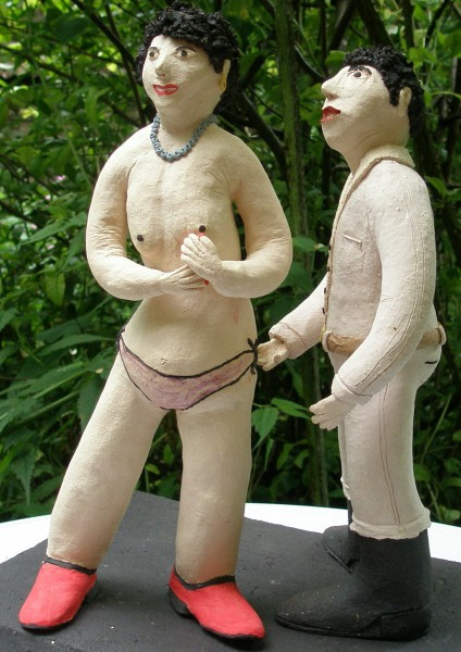 Premiers émois, sculpture, Michel Smolec, Artcompulsion, outsiderart, folk art