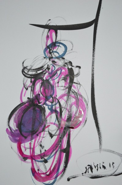 Etude tripes 2, drawing, chinese ink and calligraphic brushes on paper, Jean-Paul Muslin, Artcompulsion, artworks for sale