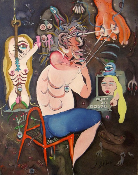 Le fou de Compostelle, oil on canvas, Claude Bolduc, Outsiderart, contemporary art, Artcompulsion