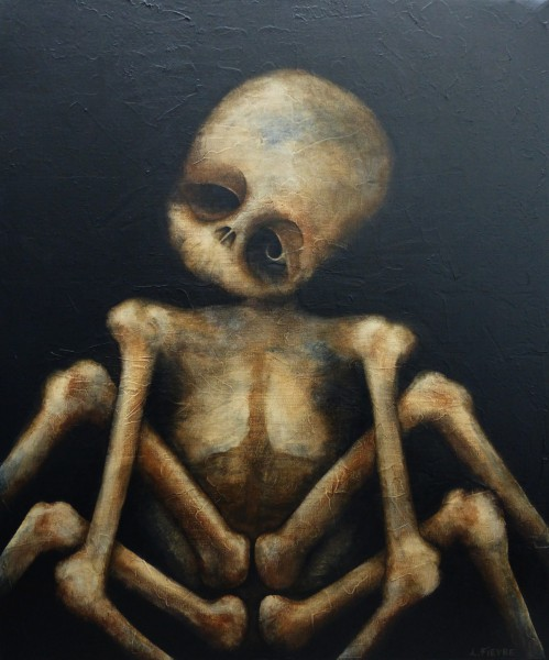 Arachnide, acrylic on canvas, Laurent Fièvre