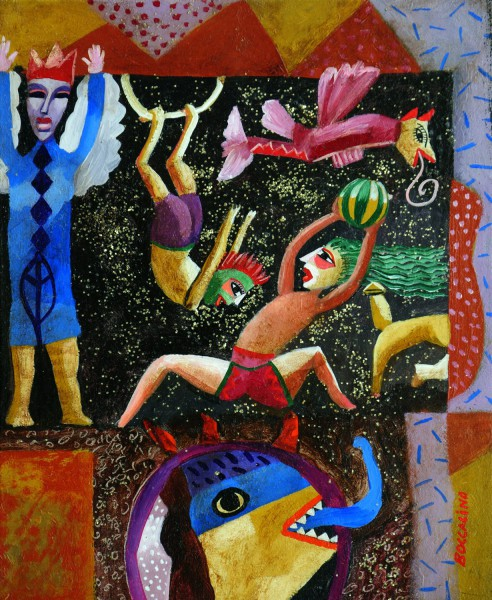 A 2 doigts de la punition, Acrylic on wood, Jean Boccacino, Artcompulsion