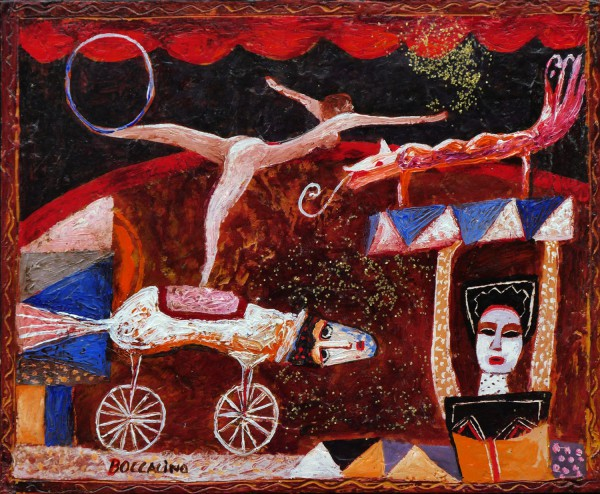 Le petit cirque, Mixed media on wood, Jean Boccacino, Artcompulsion