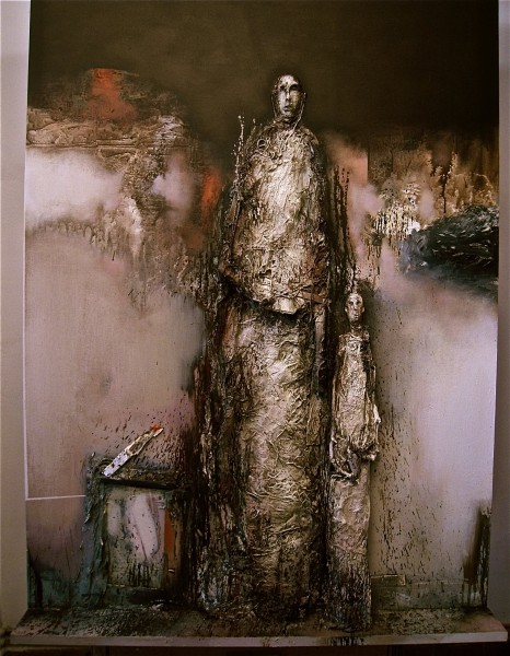 L'homme sacré 2, Mixed media on MDF, Jean-Louis Bessede, Artcompulsion