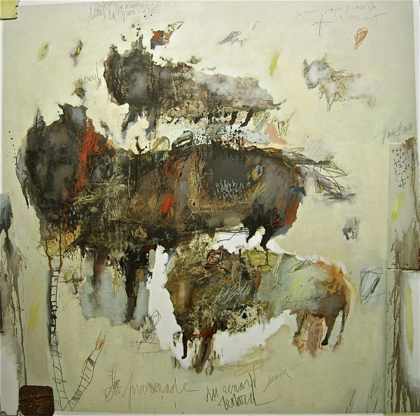 Les animaux, Mixed media on MDF, Jean-Louis Bessede, Artcompulsion