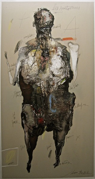 Les anatomies, Mixed media on MDF, Jean-Louis Bessede, Artcompulsion