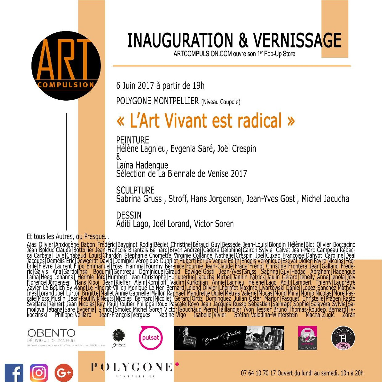 Inauguration et vernissage: Artcompulsion ouvre son 1er Pop-Up Store